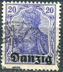 (1920) MiNr. 4 - O - Danzing - přetisk Danzing