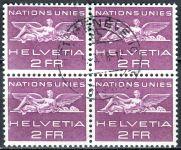 (1955) MiNr. 27 O - Švýcarsko - OSN - 4-bl - Znak OSN a plastika
