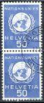 (1959) MiNr. 30 O - Švýcarsko - OSN - 2-pá - OSN Emblém