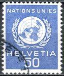 (1959) MiNr. 30 O - Švýcarsko - OSN - OSN Emblém
