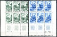 (1966) MiNr. 738 - 739 ** - Lucembursko - 6-bl - 3 x KD - d.t. + č.a. - Evropské centrum Lucembursko