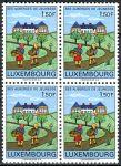 (1967) MiNr. 753 ** - Lucembursko - 4-bl - Lucemburské mládežnické ubytovny