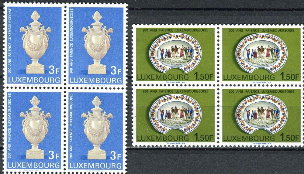 (1967) MiNr. 754 - 755 ** - Lucembursko - 4-bl - 200 let lucemburské fajánse
