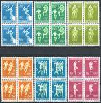 (1968) MiNr. 765 - 770 ** - Lucembursko - 4-bl - Letní olympijské hry, Mexico City