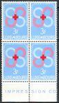 (1968) MiNr. 778 ** - Lucembursko - 4-bl - Dobrovolní dárci krve lucemburského Červeného kříže