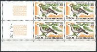 (1970) MiNr. 806 ** - Luxemburg - 4-er - coupon - 50 Jahre Luxemburger Landesverband für Vogelkunde