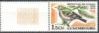 (1970) MiNr. 806 ** - Luxemburg - coupon - 50 Jahre Luxemburger Landesverband für Vogelkunde und