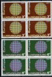 (1970) MiNr. 807 - 808 ** - Luxemburg - 4-er - Europa