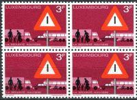 (1970) MiNr. 809 - ** - Lucembursko - 4-bl - bezpečnost silničního provozu