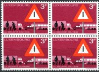 (1970) MiNr. 809 ** - Luxemburg - 4-er - Verkehrssicherheit