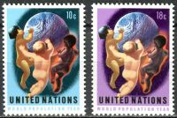 (1974) MiNr. 275 - 276 ** - OSN New York - Rok světové populace