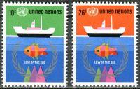 (1974) MiNr. 277 - 278 ** - OSN New York - Třetí konference OSN o mořském právu
