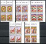 (1974) MiNr. 893 - 897 - ** - Lucembursko - 4-bl - 50 let charitativní známky - Charita: Miniatury