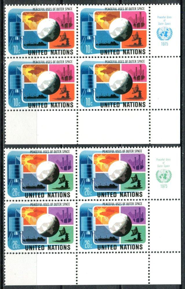 (1975) MiNr. 279 - 280 ** - OSN New York - 4-bl - Mírové využívání kosmického prostoru