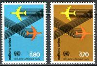 (1978) MiNr. 76 - 77 ** - OSN Ženeva - Mezinárodní organizace pro civilní letectví (ICAO)