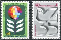 (1980) MiNr. 12 - 13 A ** - OSN Vídeň - 35 let Organizace spojených národů (OSN)