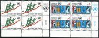 (1980) MiNr. 14 - 15 ** - OSN Vídeň - 4-bl - Hospodářská a sociální rada Organizace spojených národů