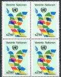 (1980) MiNr. 8 ** - OSN Vídeň - 4-bl - Vlajky jako mírová holubice