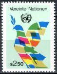 (1980) MiNr. 8 ** - OSN Vídeň - Vlajky jako mírová holubice