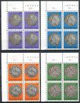 (1981) MiNr. 1025 - 1028 ** - Luxemburg - 4-er - Kultur: Münzen des 17. und 18. Jahrhunderts