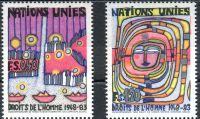 (1983) MiNr. 117 - 118 ** - OSN Ženeva - 35. výročí Všeobecné deklarace lidských práv