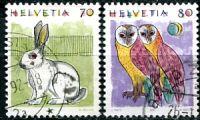 (1991) MiNr. 1436 - 1437 - O - Švýcarsko - zvěř