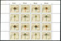 (1991) MiNr. 1546 - 1549 ** - Německo - 16-bl (4 x 4-bl) - vážky