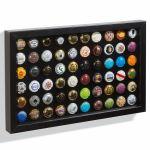 FINESTRA výstavní rámeček na 60 ks vršků od nápojů nebo šampaňského
