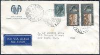 Letecký dopis - Itálie - USA - dekor. celistvost