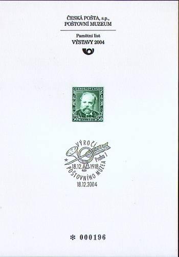 (2004) PTM č. 24 - 86. výročí založení poštovního Muzea - Antonín Dvořák
