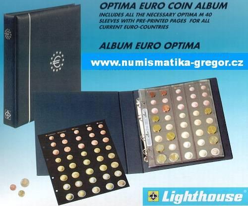 Album na Euro mince OPTIMA Leuchtturm