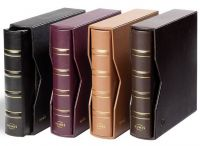 NUMIS Classic Leather Binder,leatherette slipcase, black, without contents