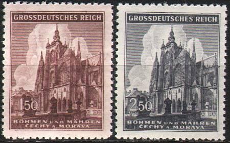 (1944) č. 120-121 ** B.u.M. - Chrám sv. Víta - 500. výročí založení