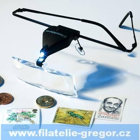 Leuchtturm Brýle lupa (3 skla 1,5x; 2,5x; 3,5x) s LED diodou