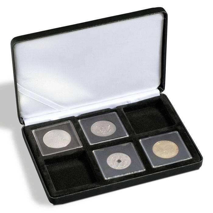 Kovová mincovní etue NOBILE - QUADRUM 6 ks - 50x50 mm Leuchtturm