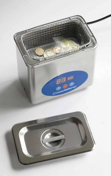 Leuchtturm Profi - ultrazvukový čistič na mince, vyznamenání, šperky