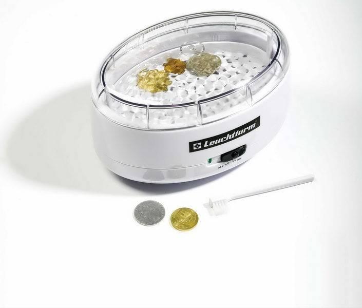 Vibrační čistič mincí Leuchtturm