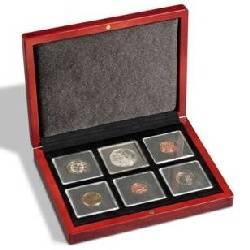 VOLTERRA etue na 6 ks QUADRUM mincovních kapslí - mahagon Leuchtturm