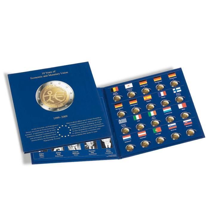 Leuchtturm Album na pamětní 2€ mince - 10 let E.M.U. (1999-2009)
