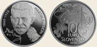 (2009) 10€ Ag (proof) - Slovensko - Martin Kukučín