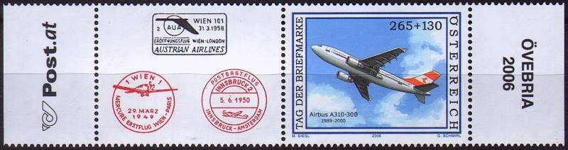 (2006) MiNr. 2606 ** - Rakousko - K+zn. - Airbus 310