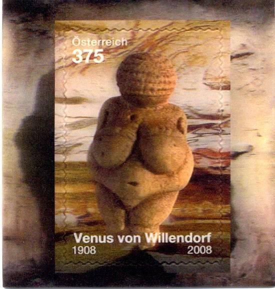 (2008) č. 2758 ** - Rakousko - BLOCK 44 - Willendorfská Venuše (3D)