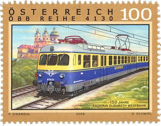 (2008) č. 2762 ** - Rakousko - železnice - Kaiserin Elisabeth Westbahn