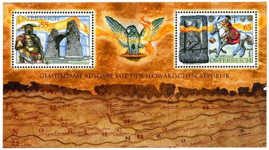 (2009) č. 2824-2825 ** - Rakousko - BLOCK 53 - Carnuntum - Gerulata - římské vykopávky