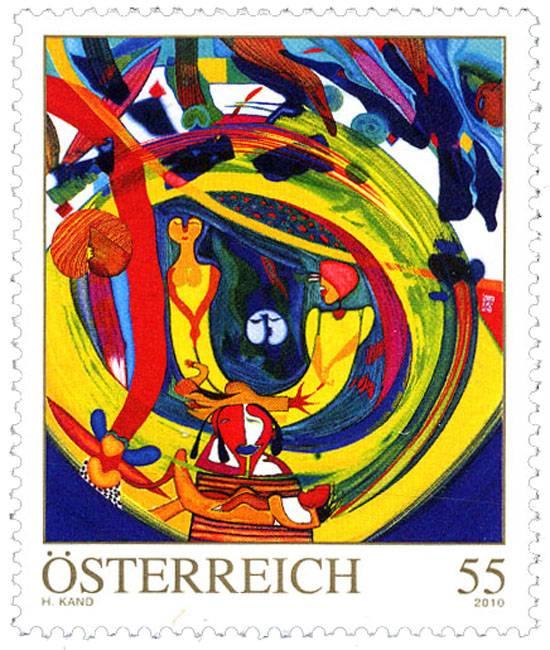 (2010) č. 2853 ** - Rakousko - Moderní umění v Rakousku - Helmut Kand