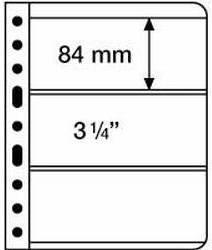 VARIO listy - 3C - průhledné listy 3 kapsy (bal. 5 ks) Leuchtturm