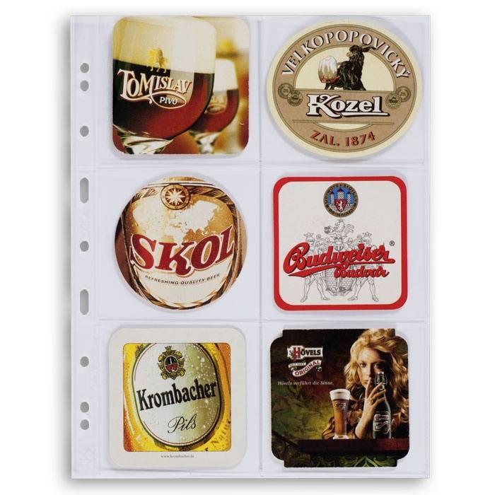 Listy GRANDE 3/2C na 6 ks pivních tácků (bal. 5 ks) - průhledné