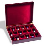 Leuchtturm - luxusní kazeta VOLTERRA VARIO 3 - pro mince, vyznamenání, minerály, kapesní hodinky ...