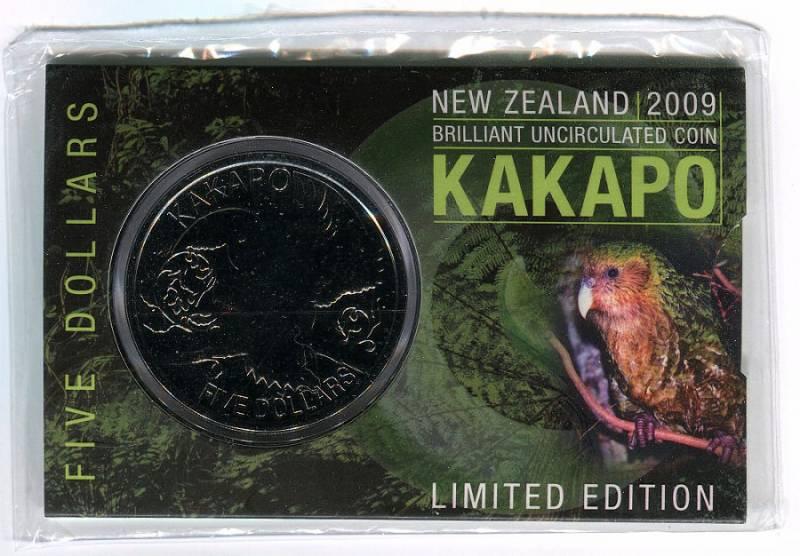 (2009) 5$ - Nový Zéland - Kakapo (UNC) - Limitová edice!