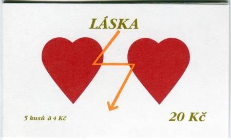 Česká pošta (1998) ZS 61 - Láska